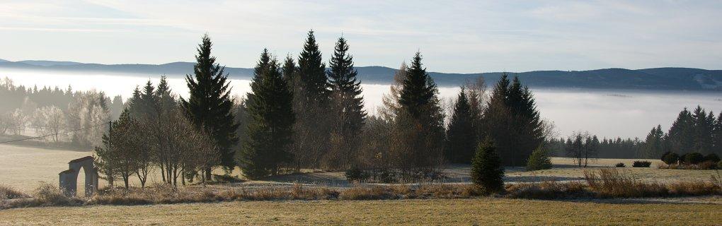 Pohled směr Stachy a Churáňov