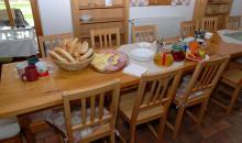 Snídaně ve společenské místnosti