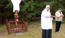 Odhalení a vysvěcení obnoveného křížku